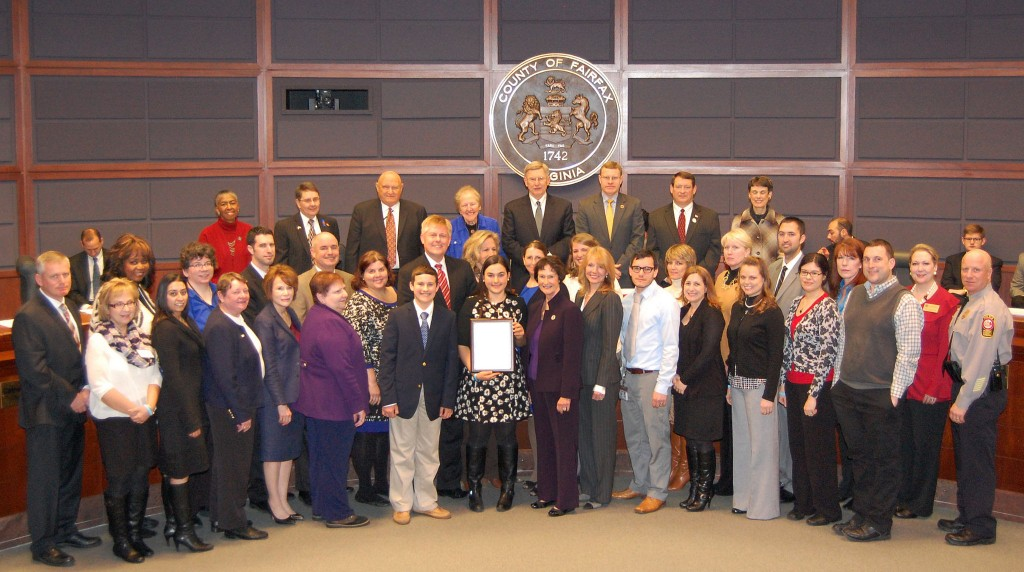 Fairfax County Board of Supervisors Human Trafficking Awareness Month Proclamation Ceremony