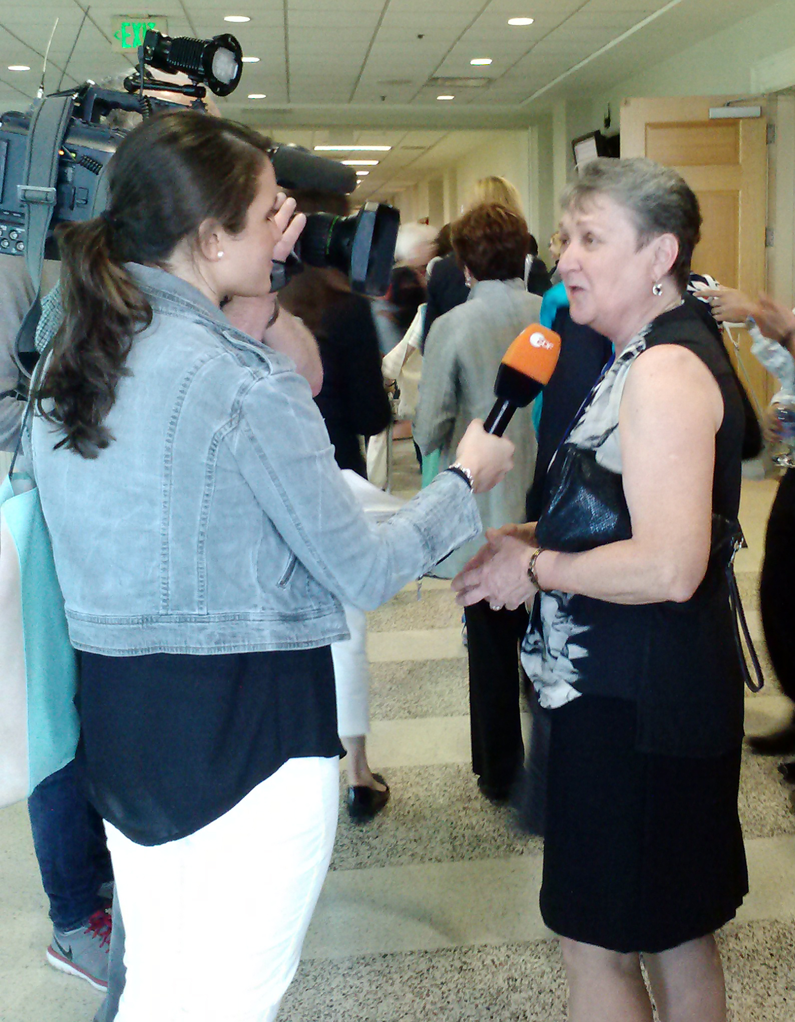 Local press interviews Nancy Joyner about NCCWSL